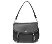 Evie Zip-detailed Textured-leather Shoulder Bag