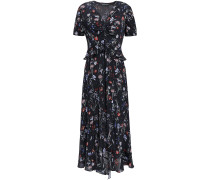 Elodie Floral-print Crepe Peplum Midi Dress