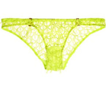 Axis guipure lace and tulle briefs