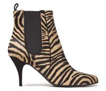 Irwin Zebra-print Calf Hair Ankle Boots