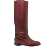 Chicago Leather Knee Boots Burgunder