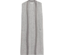 Cable-knit wool and cashmere-blend gilet