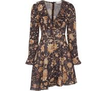 Veneto Ruffle-trimmed Floral-print Linen Mini Dress