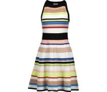 Striped Stretch-knit Mini Dress Mehrfarbig