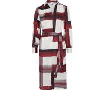 Karalie Belted Printed Satin-twill Shirt Dress
