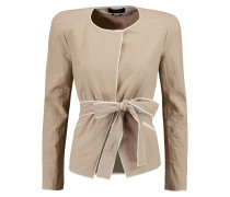 Mable Belted Cotton-crepe Jacket Champignon