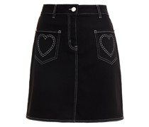 Embroidered Cotton-blend Piqué Mini Skirt