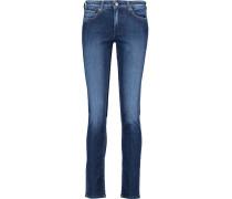 Pyper Mid-rise Faded Slim-leg Jeans Dunkler Denim