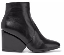 Woman Toots Leather Wedge Ankle Boots Black