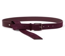 Leather And Suede Belt Burgunder