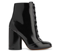 Tori patent-leather ankle boots