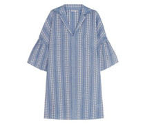 Dolman cotton-jacquard mini dress