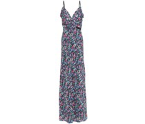 Jennie Ruffled Floral-print Silk Crepe De Chine Maxi Dress
