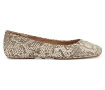 Minnie Snake-effect Leather Ballet Flats Schlangen-Print