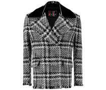 Checked Bouclé-tweed Jacket Schwarz
