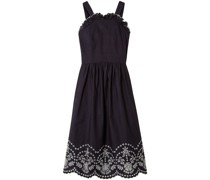 Lace-up Broderie Anglaise Cotton Dress