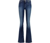 Mid-rise Bootcut Jeans Dunkler Denim