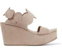 Dyane suede wedge sandals
