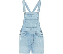 Woman Abigail Distressed Denim Overalls Light Denim