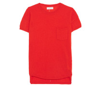 Cashmere Top Tomatenrot