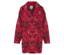 Oversized jacquard-knit wool-blend coat