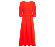 Kane Gathered Wool-crepe Midi Dress