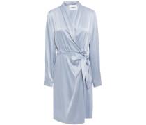 Siwa Satin Mini Wrap Dress