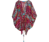 Draped Printed Coverup Mehrfarbig