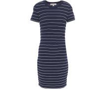 Scalloped Stretch-knit Mini Dress