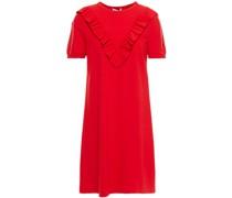 Minikleid aus Jersey mit Rüschenbesatz