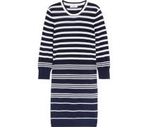Marta striped silk and cashmere-blend sweater dress