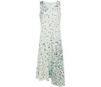 Floral-print Hammered-satin Midi Dress