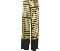 The Cayetano Printed Silk-satin Pants Mehrfarbig