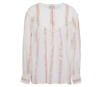 Julia Metallic Striped Cotton-gauze Blouse