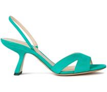 Cutout Suede Slingback Sandals