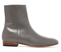 Rod Textured-leather Ankle Boots Dunkelgrau