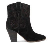 Joe embroidered suede ankle boots