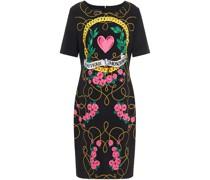 Bedrucktes Kleid aus Stretch-crêpe