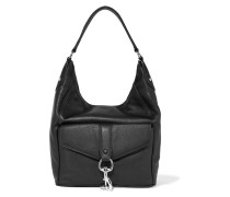 Hudson Moto Textured-leather Shoulder Bag Schwarz