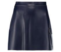 Faux Leather Mini Skirt Rauchblau