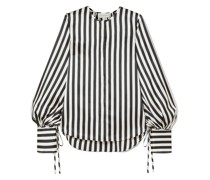 Nicholas Striped Silk-satin Blouse
