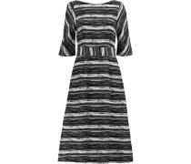 Striped cotton-canvas midi dress
