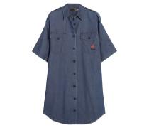 Embroidered Denim Shirt Dress Mittelblauer Denim