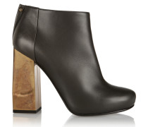 Leather Ankle Boots Anthrazit