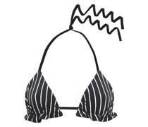 Triangel-bikini-oberteil mit Streifen und Rüschenbesatz
