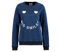 Big Smiles Metallic Cotton-blend Sweater Ultramarin