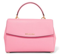 Ava Textured-leather Tote Pink