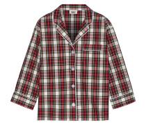 Marina Tartan Cotton-poplin Pajama Shirt Rot