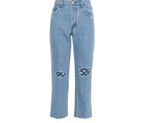Wynne Cropped High-rise Straight-leg Jeans