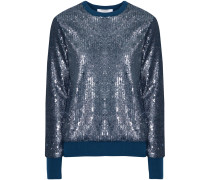 Shane Sequined Knitted Sweater Petrol